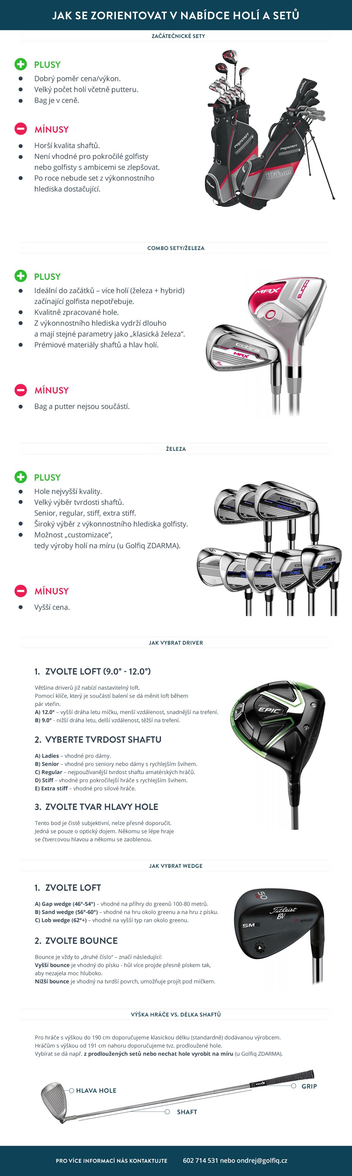 Jak vybrat golfové hole