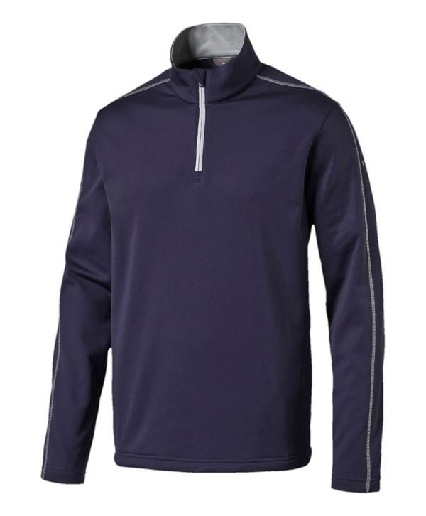 Puma Golf Mens Quarter Zip Core Fleece Pullover