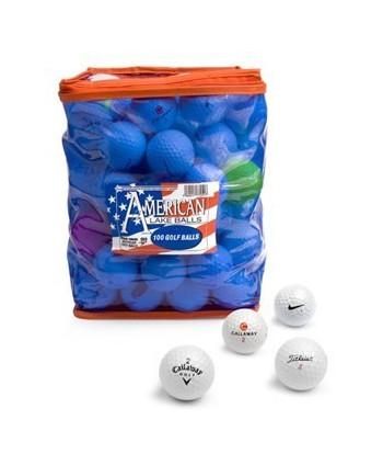Mix hraných golfových loptičiek (100 ks)