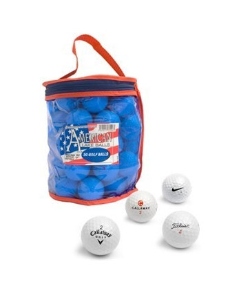 Mix hraných golfových míčků (50 ks)
