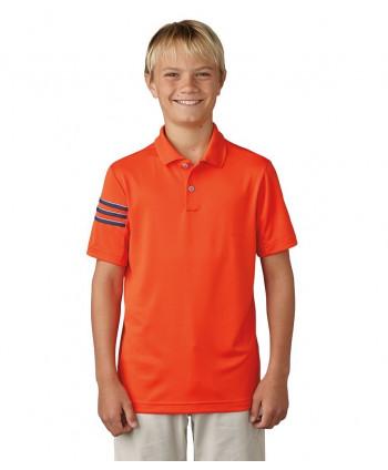 Detské golfové tričko Adidas 3-Stripes