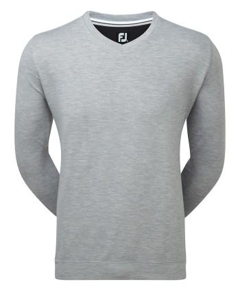Pánský golfový svetr FootJoy Spun Poly V-Neck Sweater
