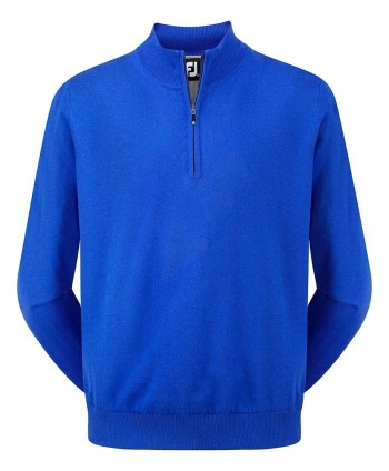 Pánsky golfový sveter FootJoy Lambswool Half Zip