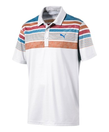 Puma Golf Mens Jersey Stripe Polo Shirt