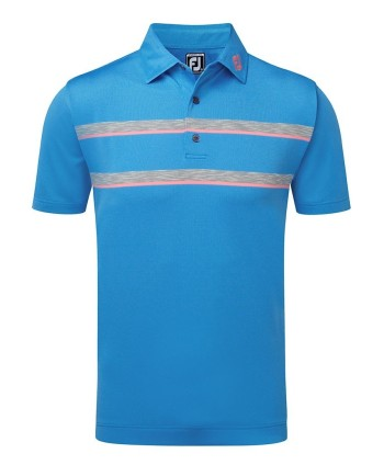 FootJoy Mens Stretch Lisle Colour Block with Double Space Dye Polo Shirt