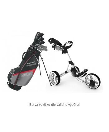 Pánský golfový set Wilson Prostaff HDX + vozík Clicgear 3.5+