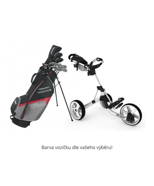 Pánský golfový set Wilson + vozík Clicgear