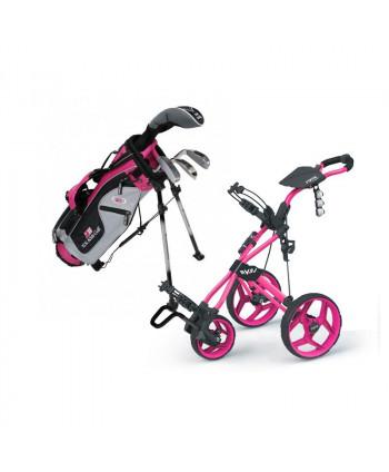 Dívčí golfový set US Kids UL-42 a vozík Rovic RV3J