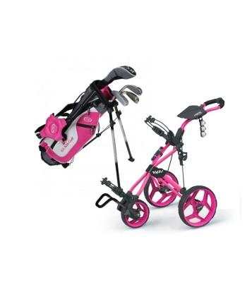 Dívčí golfový set US Kids UL-45 a vozík Rovic RV3J