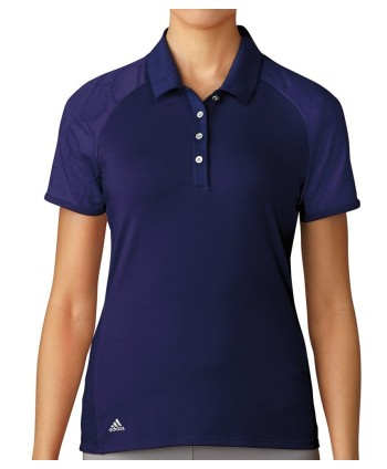 Adidas Ladies ClimaCool Aeroknit Circle Polo Shirt