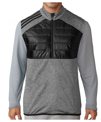 Adidas Mens ClimaHeat Quilted Half Zip Vest