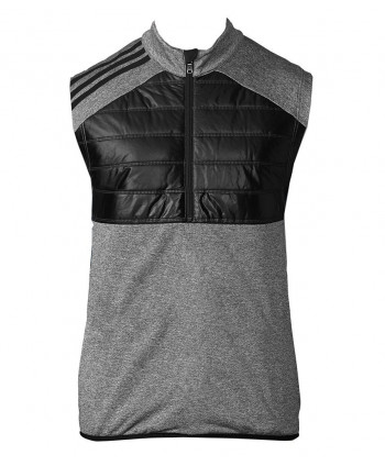 Adidas Mens ClimaHeat Quilted Half Zip Vest