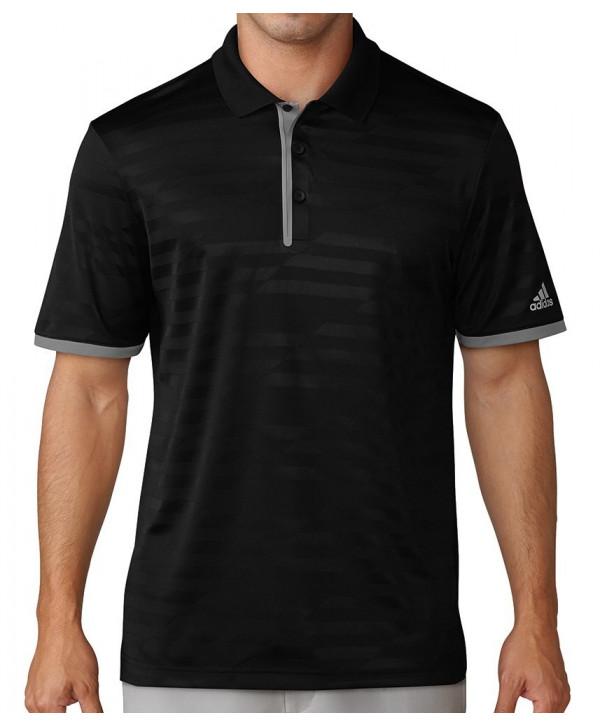 Adidas Mens Asymmetrical Stripes Polo Shirt