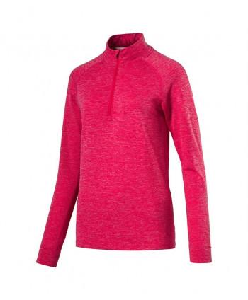 Puma Ladies Evoknit Seamless Quarter Zip Pullover