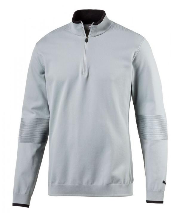 Pánská golfová mikina Puma Evoknit Seamless Quarter Zip Sweater