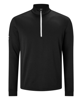 Callaway Mens Stretch Waffle Quarter Zip Thermal Mock Pullover