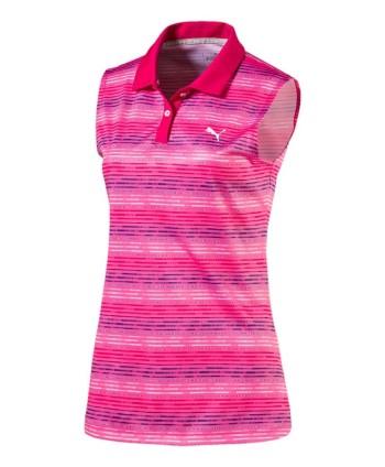 Dásmké golfové triko Puma Road Map bez rukávů