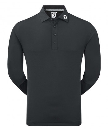 FootJoy Mens Long Sleeve Thermolite Smooth Pique Polo Shirt