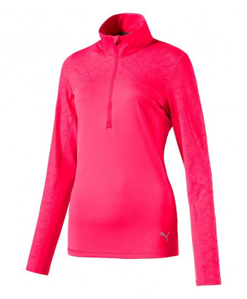 Puma Ladies Jacquard Quarter Zip Pullover