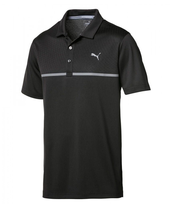 Pánské golfové triko Puma Nardo Grey Polo Shirt 2018
