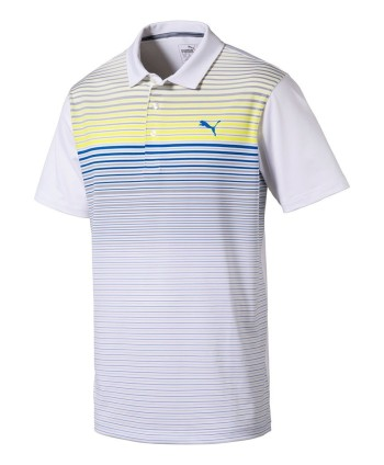 Puma Mens Highlight Stripe Polo Shirt