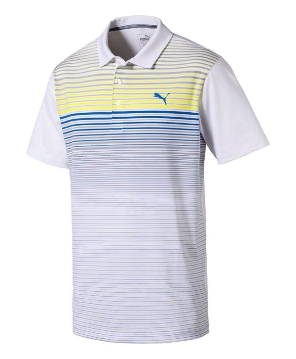 Pánské golfové triko Puma Highlight Stripe Polo Shirt 2018