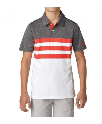 Detské golfové tričko Adidas 3-Stripes Fashion