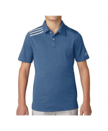 Detské golfové tričko Adidas 3-Stripes Solid 2018