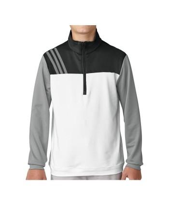 Adidas Boys Fashion 3-Stripes Half Zip Top