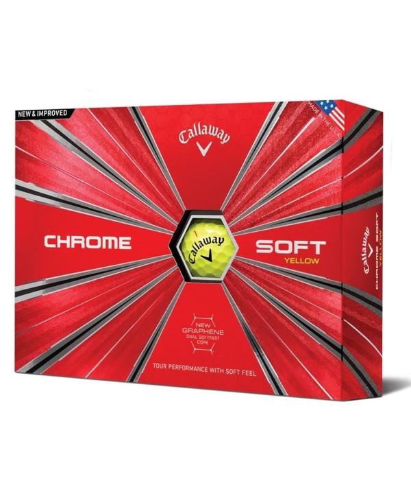 Golfové míčky Callaway Chrome Soft Yellow 2018 (12 ks)