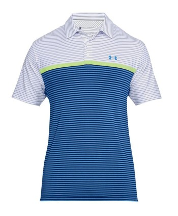Under Armour Mens Playoff Super Stripe Polo Shirt