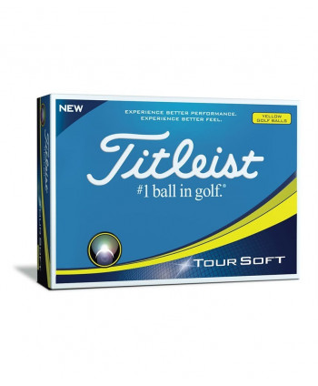Titleist Tour Soft Yellow Golf Balls (12 Balls) 2018