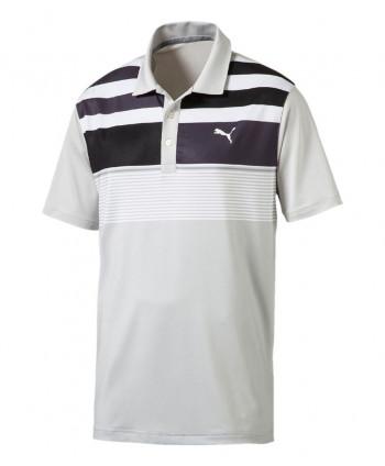 Pánské golfové triko Puma Washed Stripe Polo Shirt 2017