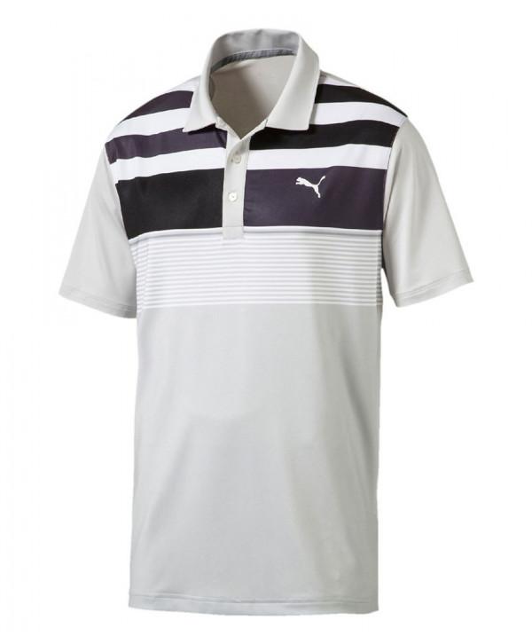 Pánské golfové triko Puma Road Map Asym Polo Shirt