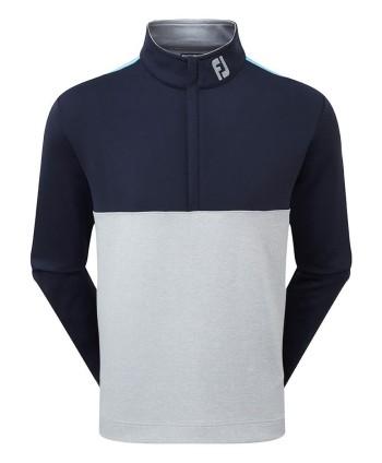 Pánská golfová mikina FootJoy Jersey Knit Colour Block Chill Out