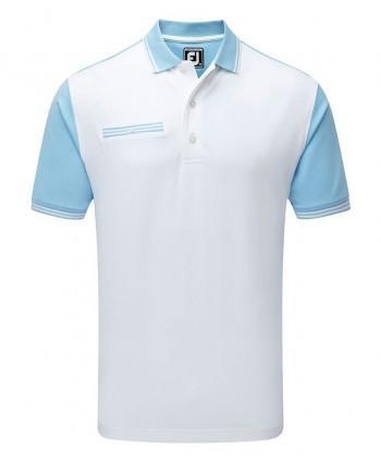 Pánske golfové tričko FootJoy Stretch Pique Front Colour Block 2018