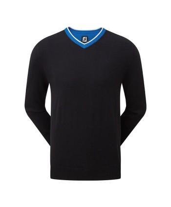 FootJoy Mens Wool Blend V-Neck Pullover