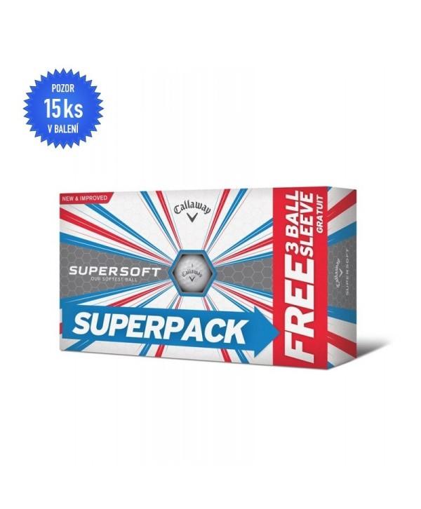 Golfové míčky Callaway Supersoft (15 ks)