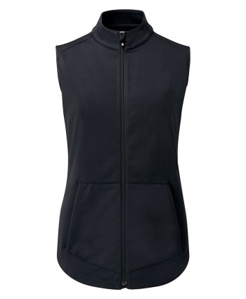 Dámska golfová vesta FootJoy Full Zip Brushed Chill Out Vest