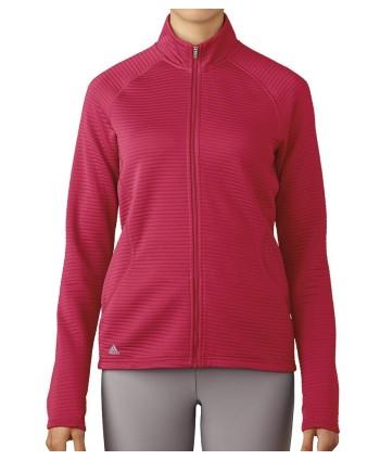 Dámská golfová mikina Adidas Essentials 3 Stripes Full Zip Layering Top 2017