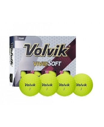 Golfové míčky Volvik Vivid Soft (12 ks)