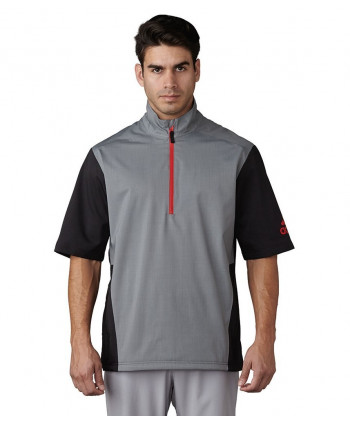 adidas Mens ClimaProof Heathered Short Sleeve Rain Jacket