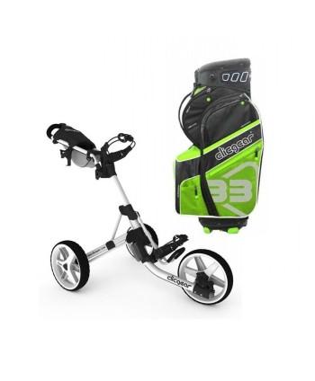 Golfový bag Cobra Ultralight + golfový vozík Clicgear 3.5+