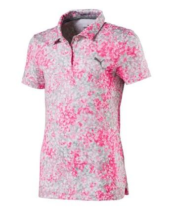 Puma Girls Floral Polo Shirt
