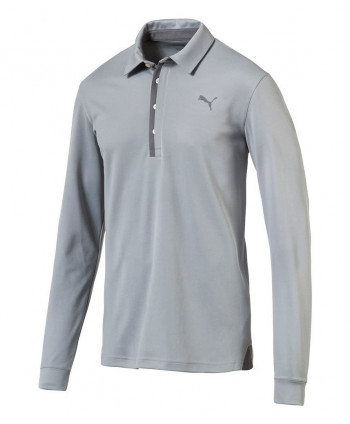 Puma Mens Tailored Long Sleeve Polo Shirt