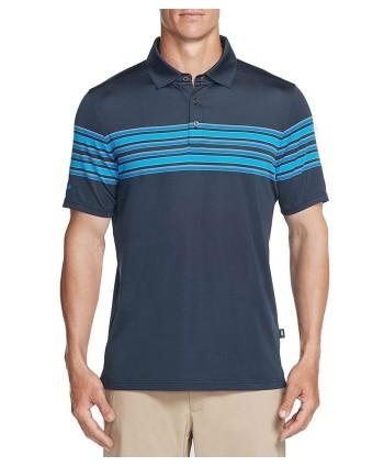 Pánské golfové triko Skechers Club Face Stripe Polo Shirt 2018