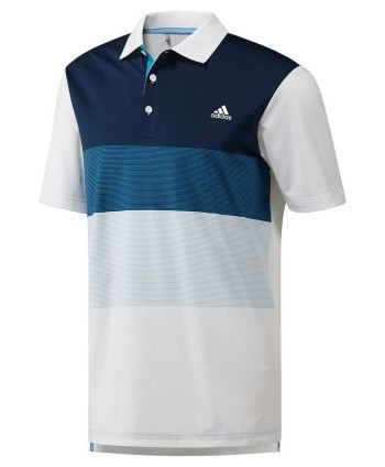 adidas Golf Mens Bold 3Stripes Polo Shirt