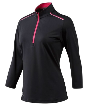 Dámská golfová mikina Adidas Quarter Sleeve Zip 2018