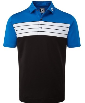 Pánské golfové triko FootJoy Stretch Pique Striped Colour Block 2018