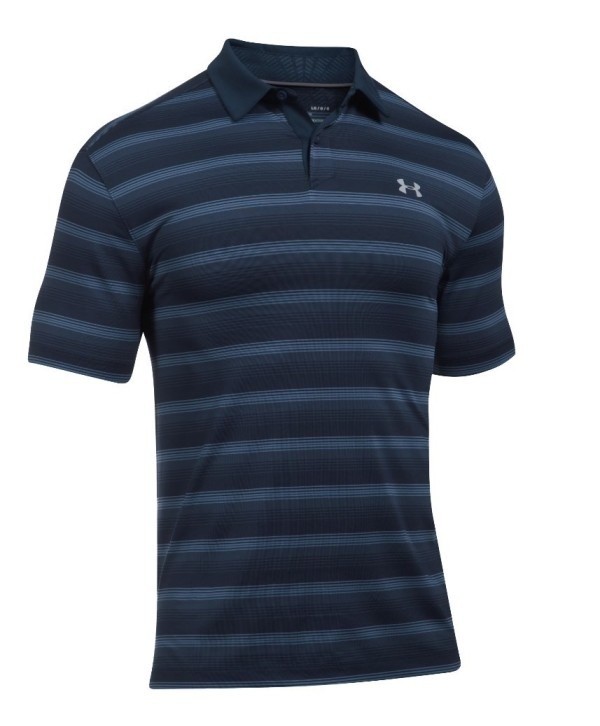 Under Armour Mens CoolSwitch Bermuda Stripe Polo Shirt